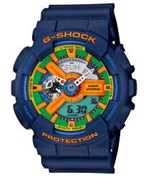 CASIO 卡西歐 G SHOCK 新設計美學機械感運動休閒錶 藍 GA-110FC-2A 51.2 mm