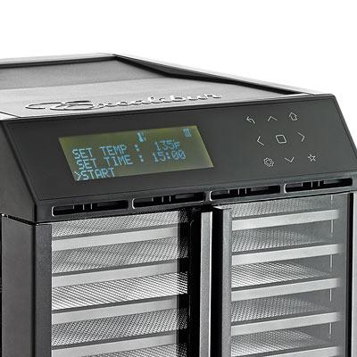 ★加贈真空保鮮組★ Excalibur  十層數位式雙區雙電壓低溫乾果機 / 黑 / 對開透明門 RES10 3