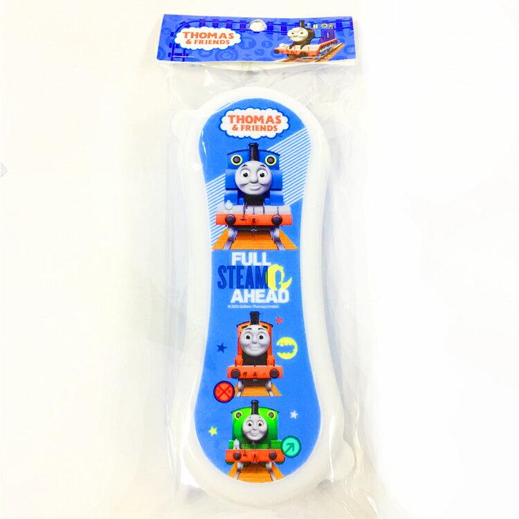 韓國製 湯瑪士 隨身 環保 塑膠餐具收納盒 方便攜帶 兒童餐具組 卡通造型 圓型 韓國進口正版 702146