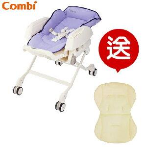 【贈$2200新生兒透氣內墊】日本【Combi 康貝】Letto ST 手動安撫餐椅搖床 -2色