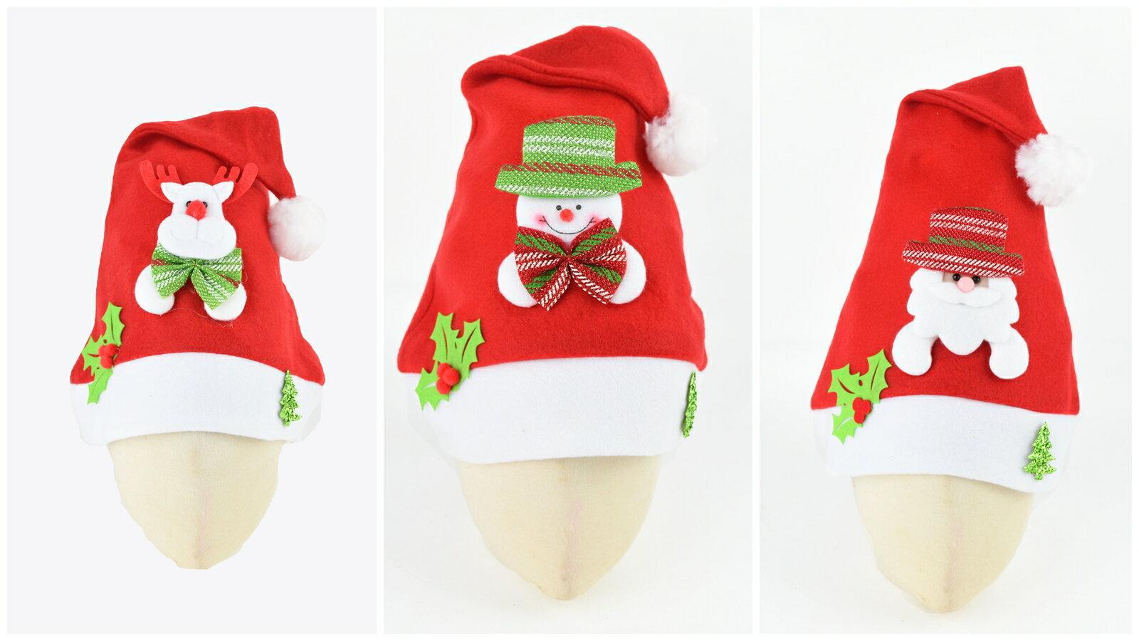 X射線【X294082】拉絨布綠葉公仔聖誕帽,聖誕節/派對用品/舞會道具/cosplay/角色扮演/麋鹿/表演/情趣/園遊會/校慶