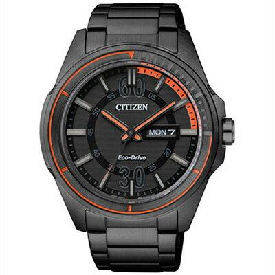 CITIZEN星辰AW0035-51E炫黑極限戰鬥動能腕錶/黑面43mm
