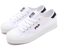 【毒】FILA 帆布休閒鞋 白色 女款 5-C910S-110 男款 1-C910S-110-毒-潮流男裝