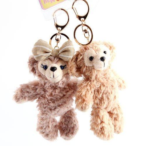 =優生活=【實品超細緻】日本東京迪士尼Duffy達菲熊ShellieMay 雪莉玫 14cm站熊 鑰匙圈 吊飾 絨毛娃娃 玩偶