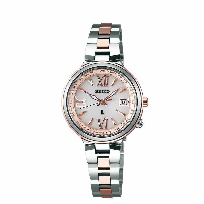 Seiko Vivace 1B25-0AK0KS(SSVV020J)美好時刻太陽能電波腕錶/粉紅面28mm