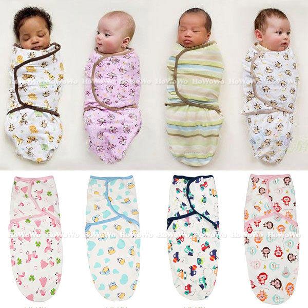 聰明包巾 棉質 懶人嬰兒包巾/可調式簡易包巾HS10710