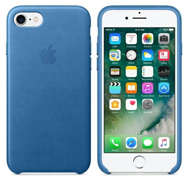 APPLE iPhone 7 PLUS 原廠皮革護套 5.5吋 手機套 冰海藍色