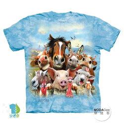 【摩達客】(預購) 美國進口The Mountain 農場動物們哦耶 純棉環保短袖T恤