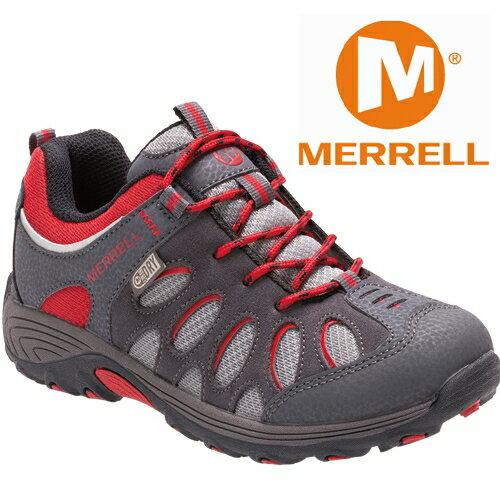 Merrell 兒童登山鞋/小朋友爬山/防水透氣越野鞋/健行鞋 Chameleon MLC55608 灰紅