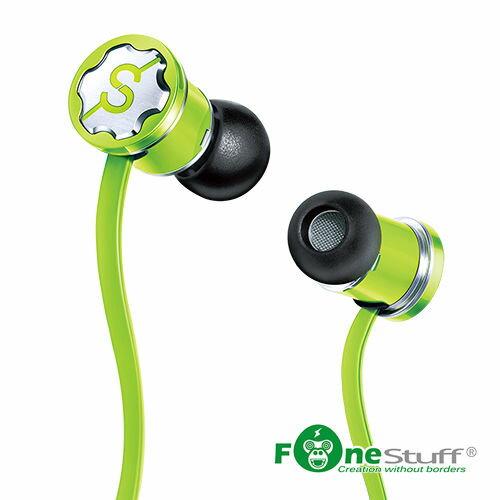 【迪特軍3C】FONESTUFF[線控耳機]抗噪重低音耳塞式耳機-綠手機耳機內耳式耳機耳道式耳機