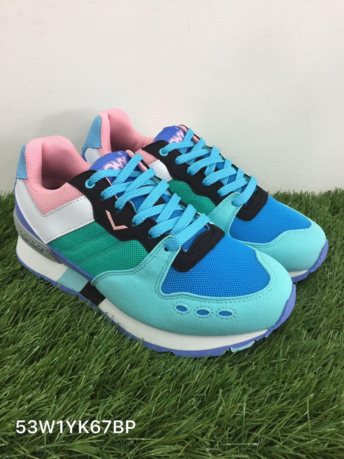 《超值990》Shoestw【53W1YK67BP】PONY YORK 復古慢跑鞋 內增高 藍綠 增高鞋 女生