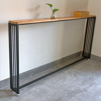 長條架子 簡約客廳沙發後置物架靠牆書架落地實木床頭收納書架櫃玄關長條架『MY4937』