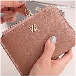真皮卡包-超輕薄牛皮鉚釘女士皮夾16卡位皮包錢夾零錢包卡片夾卡片包長夾手包男  AngelNaNa【MA0214】