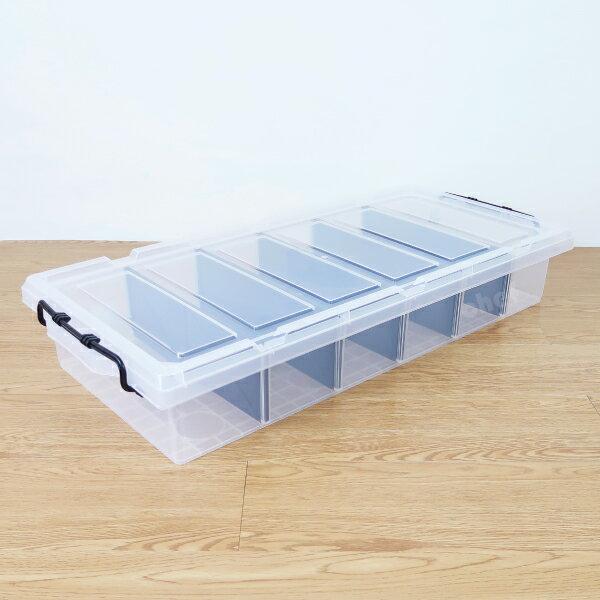 聯府強固型床底收納箱分隔整理箱27L分類整理箱K019-大廚師百貨