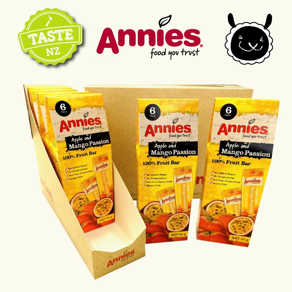 【壽滿趣- 紐西蘭原裝進口】Annies 全天然水果條(百香芒果6盒, 36片家庭裝) 0