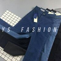 牛仔窄管褲推薦到鉛筆褲/窄管褲 魅力單寧高腰修身彈力牛仔褲 艾爾莎【TAE7225】就在艾爾莎時尚精品推薦牛仔窄管褲