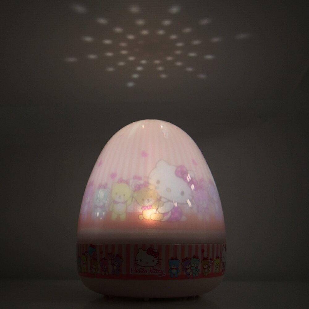 Lumitusi- Hello Kitty旋轉音樂點點夜燈 音樂走馬燈 點點投射燈 LED夜燈 2