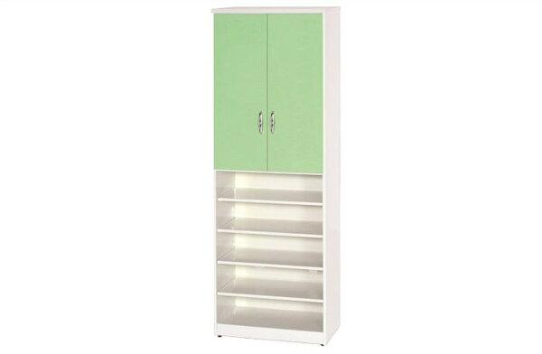 石川家居:【石川家居】887-05(綠白色)鞋櫃(CT-330)#訂製預購款式#環保塑鋼P無毒防霉易清潔