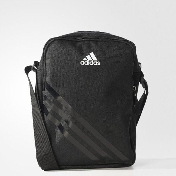 ADIDAS EC ORG BAG 側背包 肩背包 小方包 隨身包 黑 白 【運動世界】 AJ4232