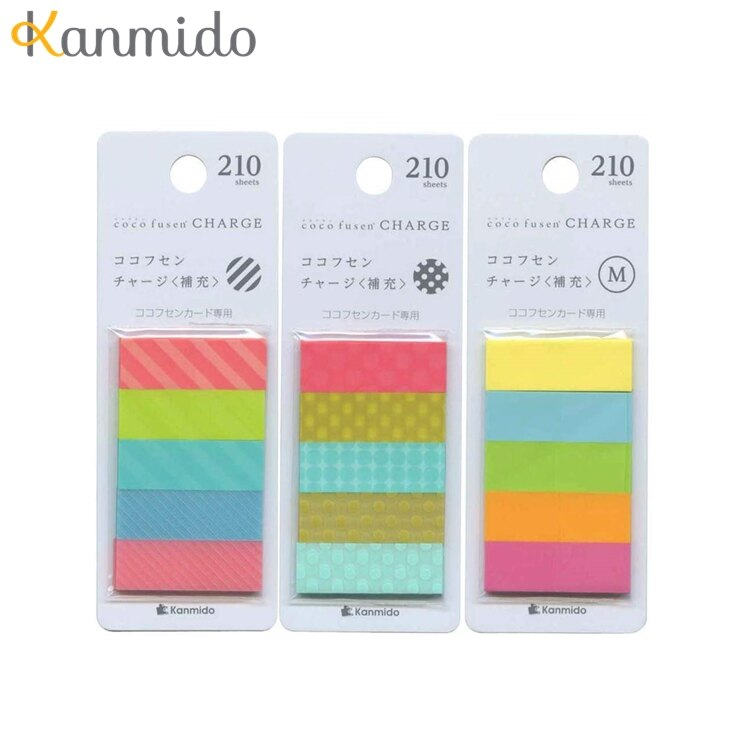 又敗家@Kanmido卡片標籤貼補充包coco fusen標籤紙CARD自粘便籤CF-5001補充包標籤貼便條紙便條貼