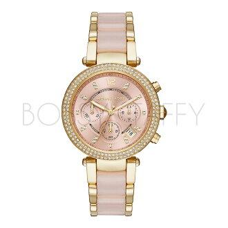 MK6326 MICHAEL KORS 時尚水鑽三眼計時 女錶 手錶