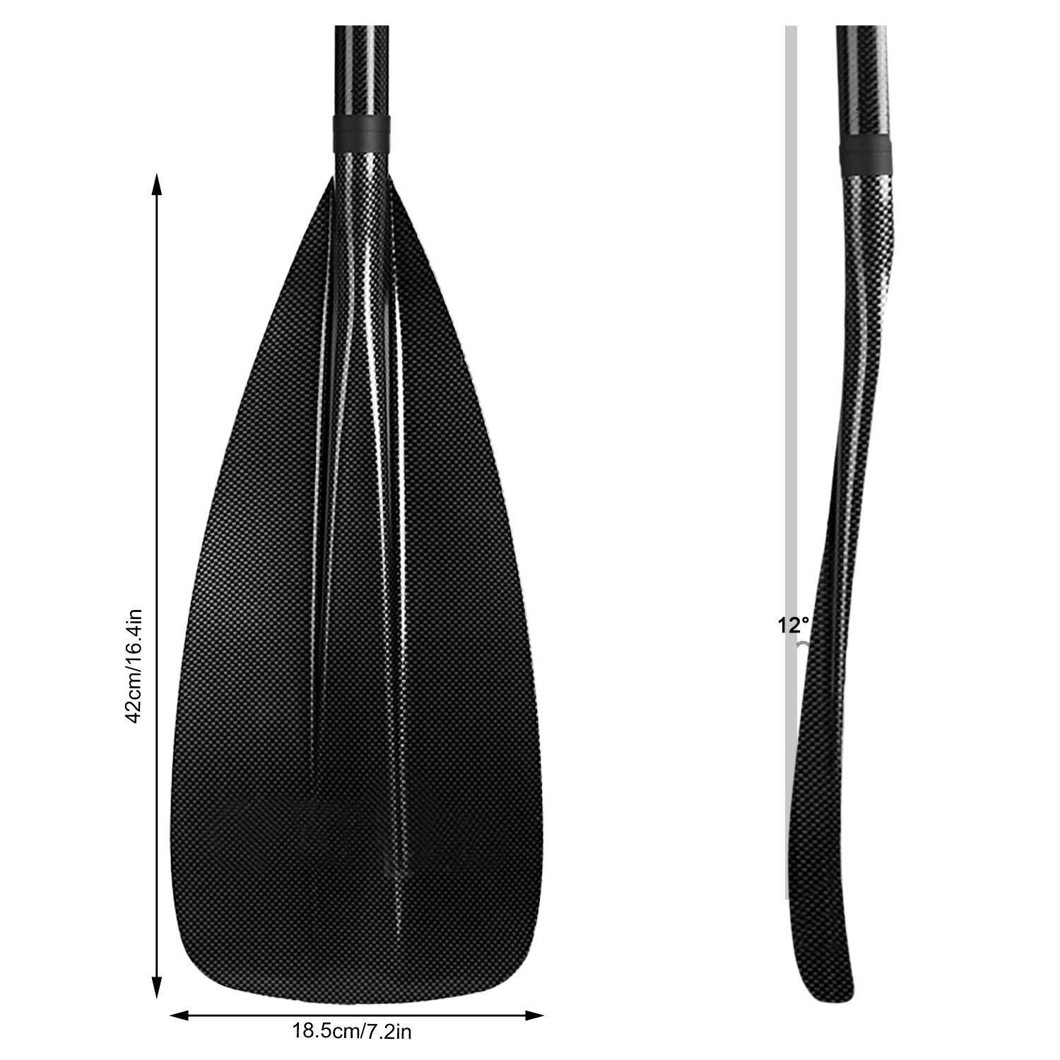 3 Piece Adjustable Stand Up Paddle Boarding Paddle Durable with Carrying Bag 4