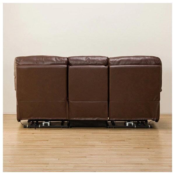 ◎(OUTLET)全皮3人用頂級電動可躺式沙發 BELIEVER ROYAL DBR 福利品 NITORI宜得利家居 3