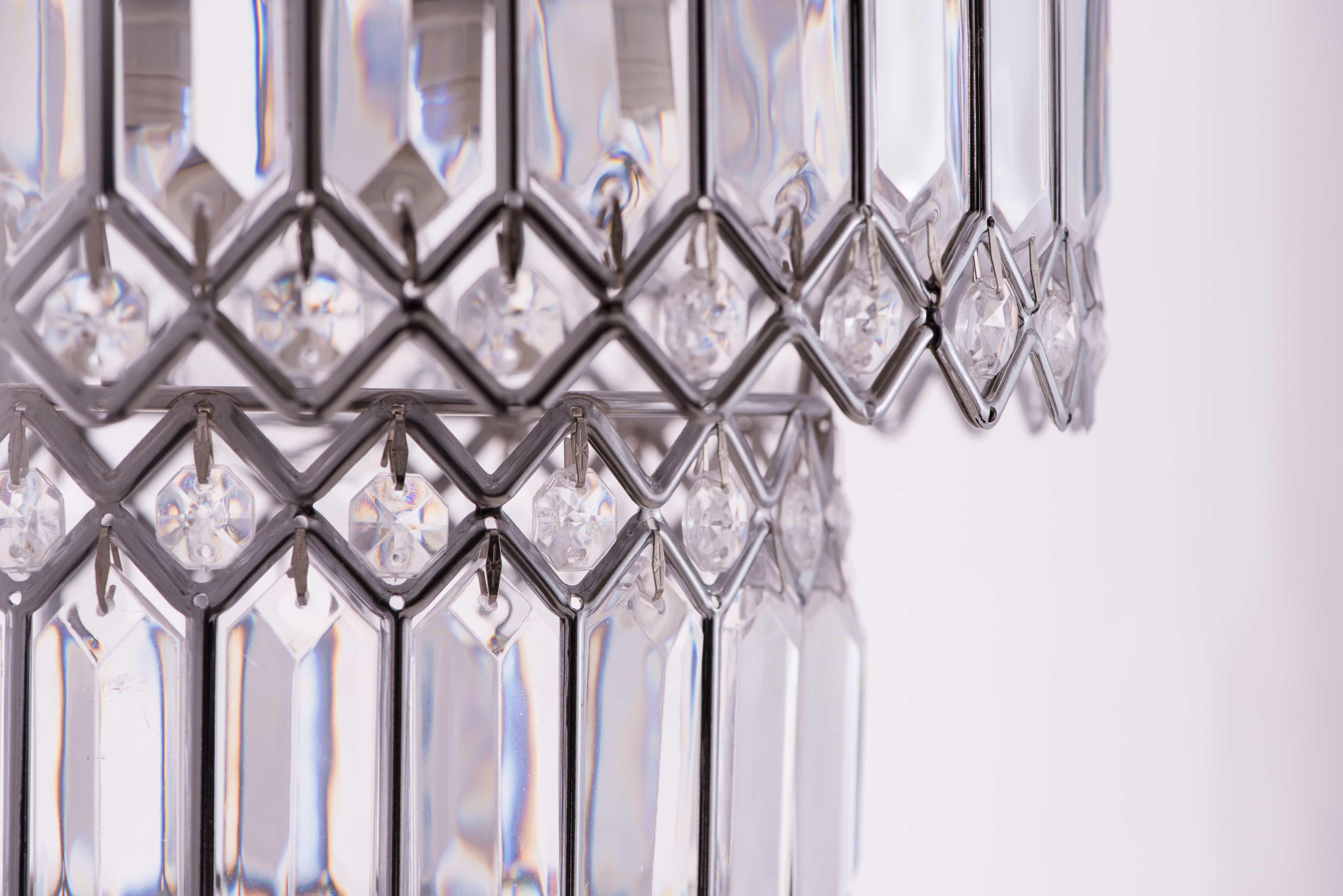 鍍鉻銀鐵花邊透明壓克立吊燈-BNL00056 5