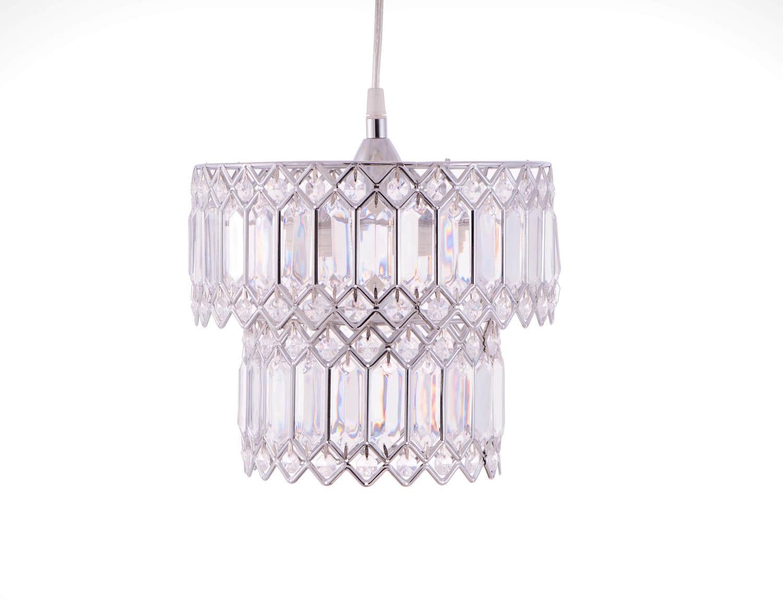 鍍鉻銀鐵花邊透明壓克立吊燈-BNL00056 0