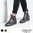 ZALULU愛鞋館 JK024 預購 帥氣百搭素面鬆緊帶馬丁雨靴-黑 / 棕-36-40 1