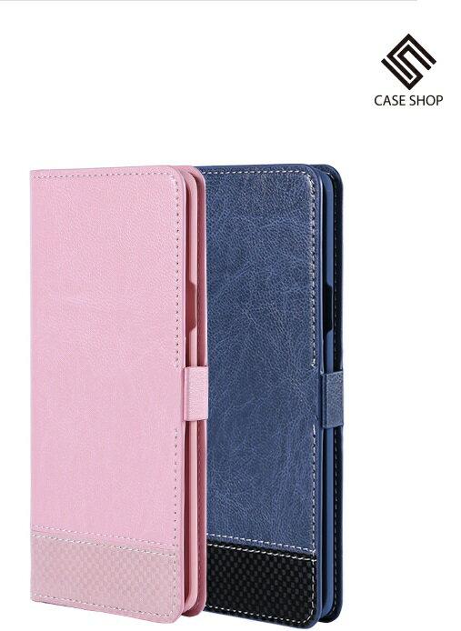 SAMSUNG GALAXY S9+ / S9 PLUS 專用拼接格紋側掀皮套 CASE SHOP
