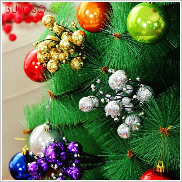 不囉唆:《不囉唆》插花聖誕果子22CM(古銅)聖誕樹裝飾擺設雪人雪球(不挑色款)【A426100】