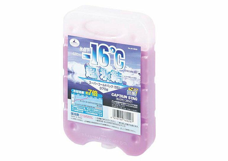 【【蘋果戶外】】Captain Stag M-6929 SS 370g 日本鹿牌-16℃抗菌野餐超凍媒 冰磚/冷媒/冷凍磚