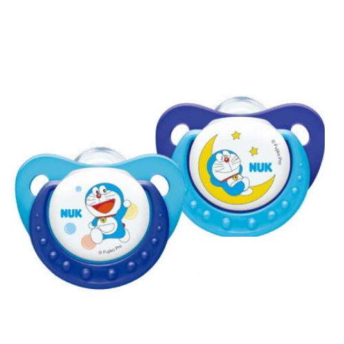 NUK哆啦A夢矽膠安撫奶嘴(初生型0-6一般型6-18)2入『121婦嬰用品館』