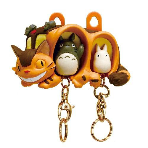 【真愛日本】16051300055 造型鎖圈收納架-貓公車與龍貓  龍貓 TOTORO 豆豆龍 鑰匙圈 日本帶回 吊飾