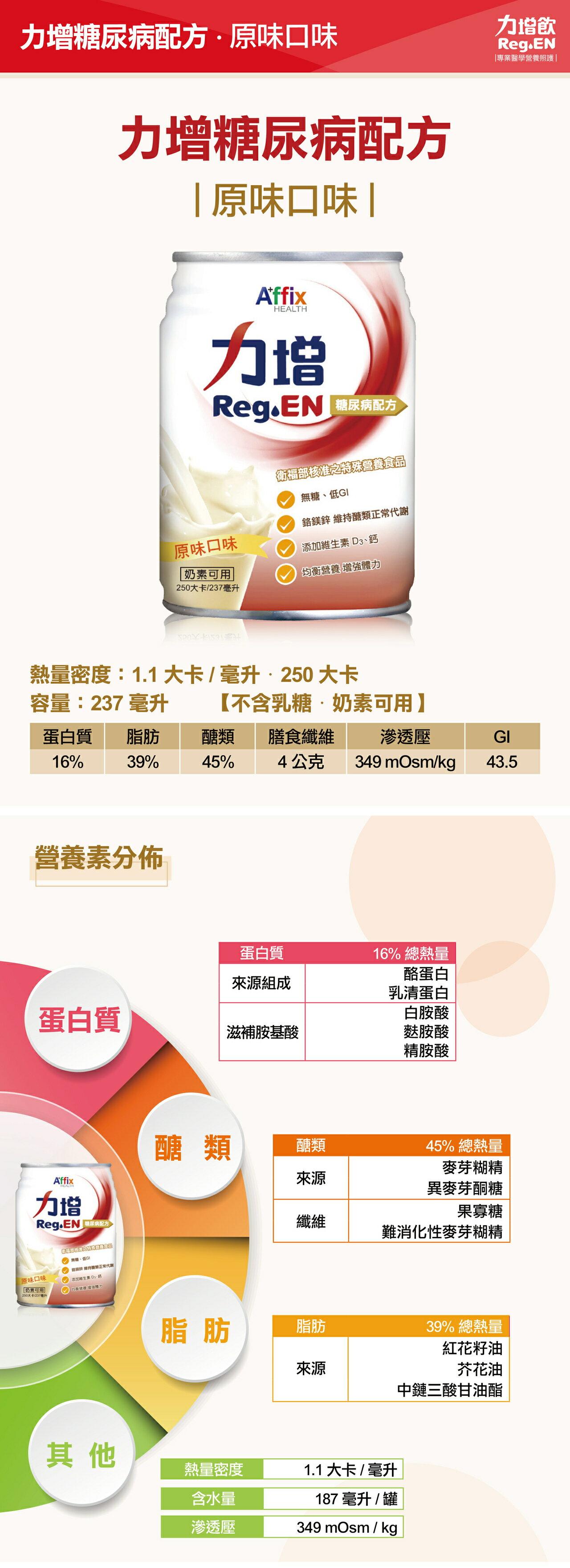 (平均一箱1200元) 力增飲 糖尿病配方 原味口味(2+1特惠組,共3箱) 光點藥局 2009797