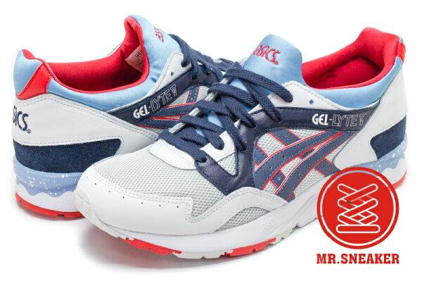 ☆Mr.Sneaker☆ASICSTigerGEL-LYTEVH5Z9L1050龍舟白灰色藍紅男段