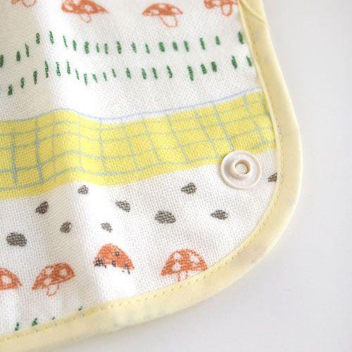 Hoppetta - 蘑菇森林揹巾口水巾 (暗釦款) 7