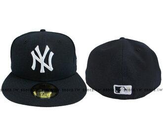 Shoestw【9631301-025】MLB 美國大聯盟 NEW ERA 球員帽 側LOGO 洋基隊 深藍
