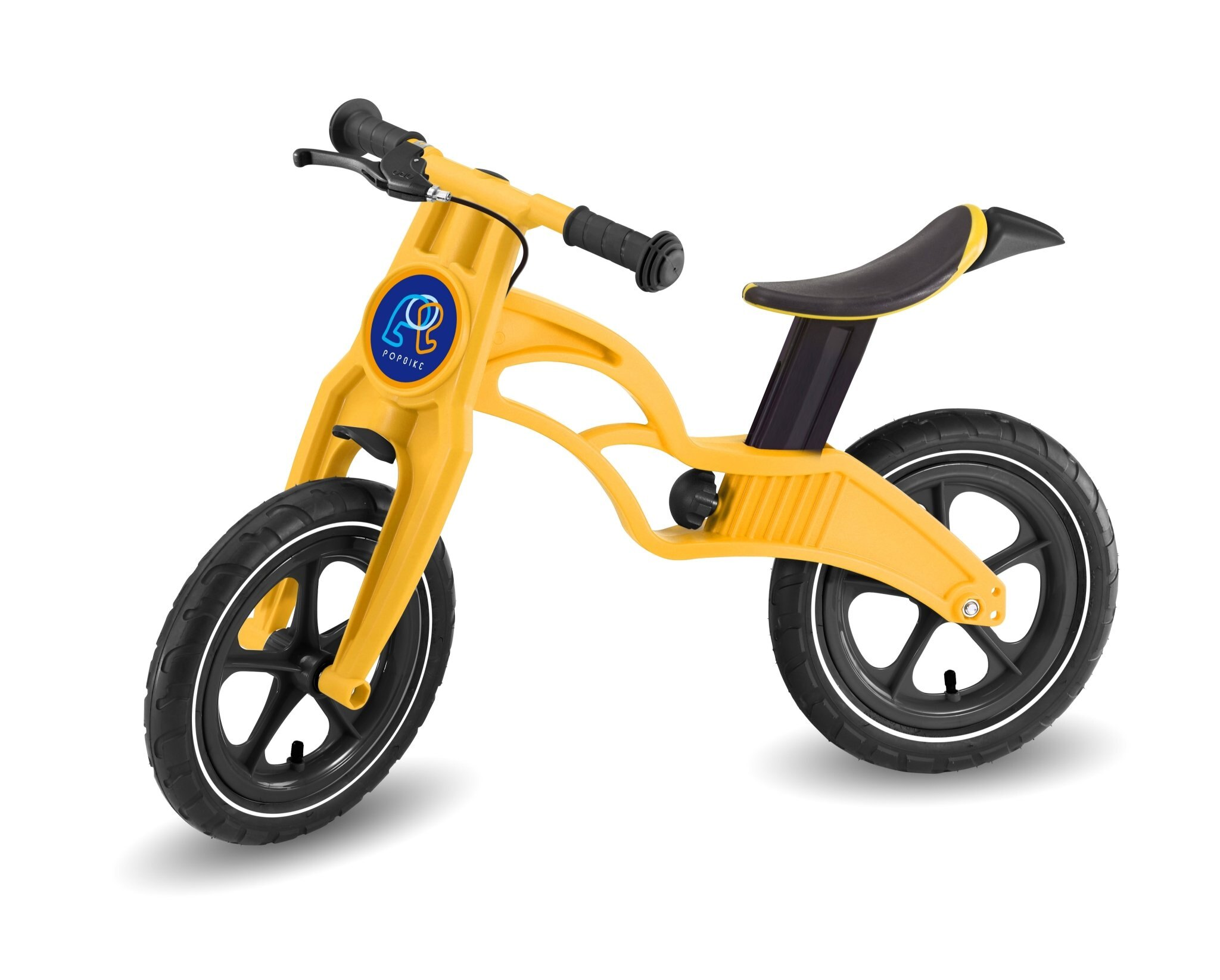 Pop Bike 兒童滑步車 / 平衡車 / 學步車 /  - 煞車版 氣胎 黃色 - 限時優惠好康折扣