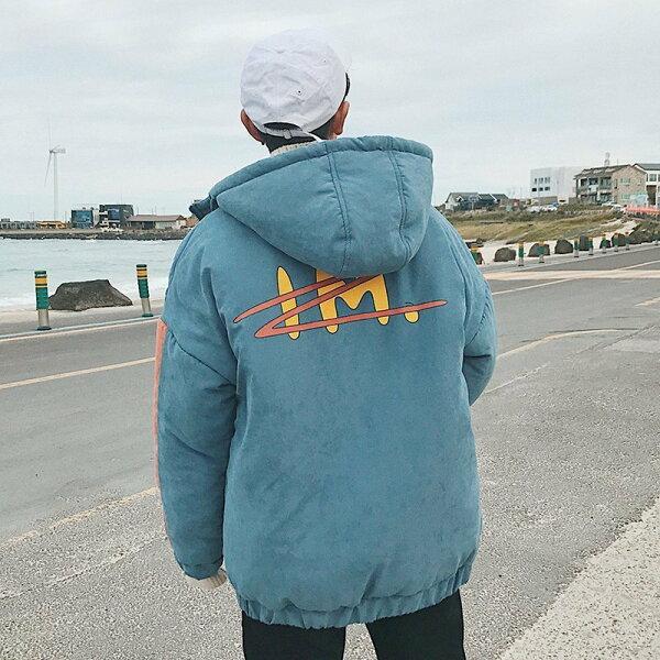 FINDSENSEG6韓國時尚麵包服男士連帽棉衣潮防寒外套上衣