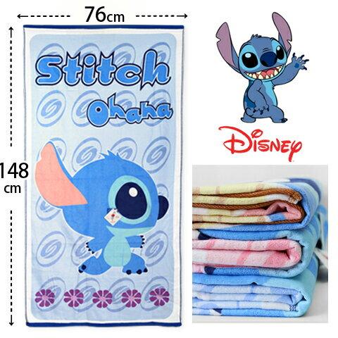 【esoxshop】海灘巾 浴巾 俏皮圖紋史迪奇款 Disney 台灣製