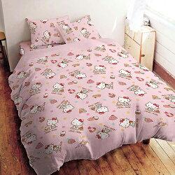 100%精梳棉雙人兩用被床包4件組 - Hello Kitty 甜美饗宴