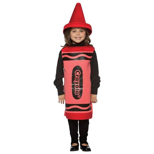 Crayola Child Halloween Costume - Size / Color: 7-10T / Red 0
