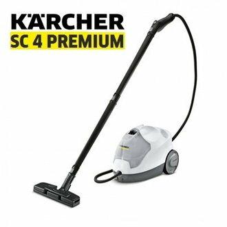 限量贈WV75!德國KARCHER凱馳SC4PREMIUM多功能高壓蒸氣清洗機新一代優雅的白色蒸汽清洗機SC4100後繼機種