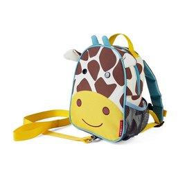 【淘氣寶寶】美國 SKIP HOP 可愛動物園 ZOO-LET 迷你防走失背包~附防走失帶(長頸鹿/Giraffe)