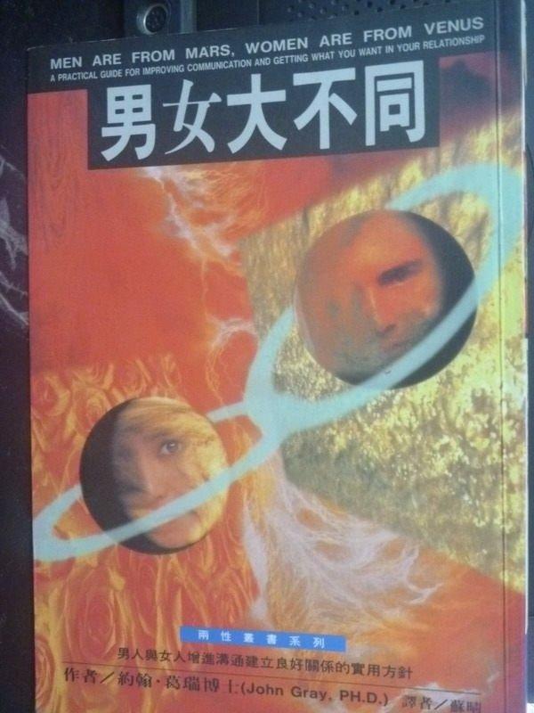 【書寶二手書T2/兩性關係_JMK】男女大不同_蘇晴, 約翰葛瑞