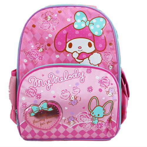【真愛日本】15070400003 後背書包L-玫瑰老鼠桃  三麗鷗家族 Melody 美樂蒂   書包  後背包  正品