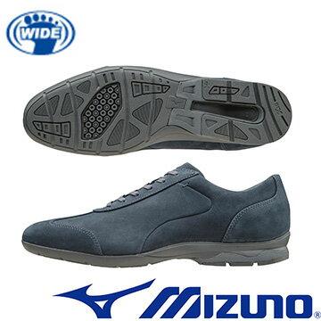 B1GC162314(深丈青)WAVELD40CROSS兼具上班及休閒穿著兩立時尚設計的寬楦健走鞋【美津濃MIZUNO】