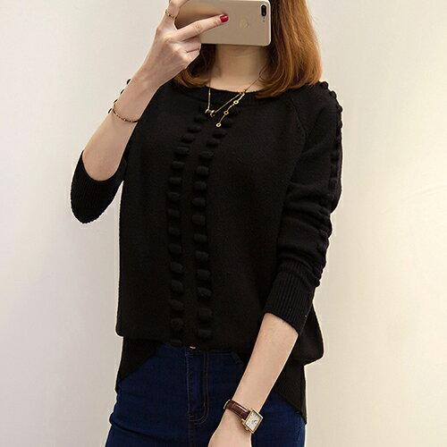 韓版針織衫寬鬆圓領套頭毛衣(5色F碼) 【OREAD】 2